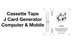Cassette Tape J Card Template Generator Easy Mixtape Artwork Maker Computer  Ios Android inside Cassette J Card Template