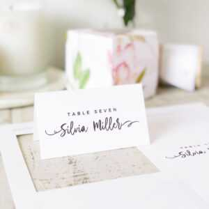 Casual Script Place Card Template, Printable Escort Cards, Modern  Calligraphy, Word Or Pages, Mac Or Pc, Instant Download regarding Printable Escort Cards Template
