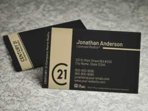 Century 21 Business Card Template – Bc1830C21 – Nusacreative pertaining to Coldwell Banker Business Card Template