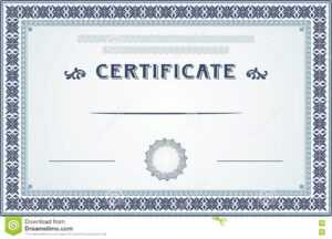 Certificate Border And Template Design Stock Vector intended for Certificate Border Design Templates