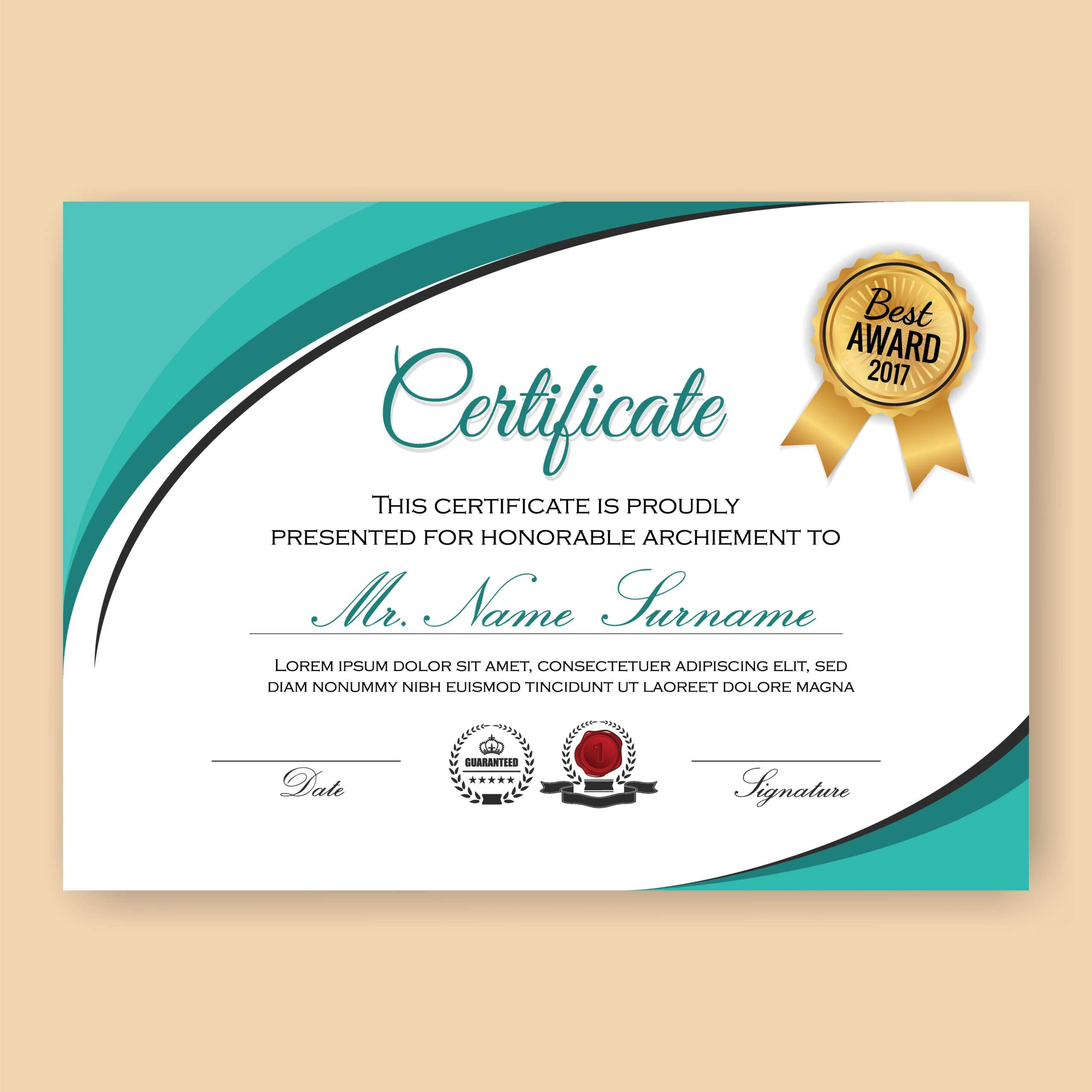 Certificate Border Free Vector Art - (14,563 Free Downloads) With Certificate Border Design Templates