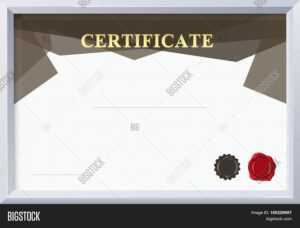 Certificate Border, Vector & Photo (Free Trial) | Bigstock throughout Certificate Border Design Templates