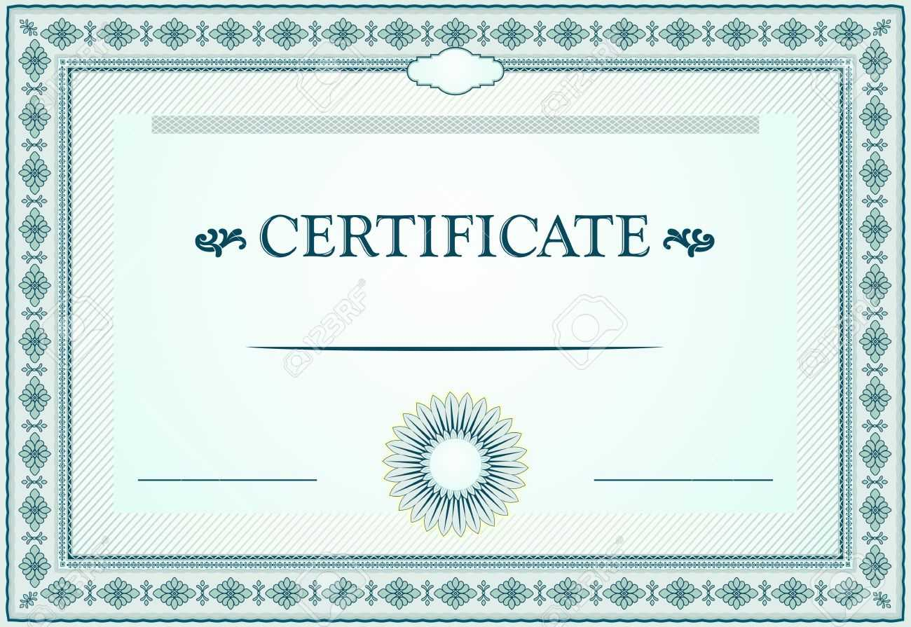 Certificate Borders, Template And Design Elements Regarding Certificate Border Design Templates