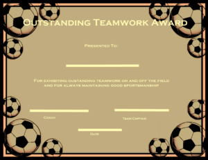 Certificate Clipart Football, Certificate Football inside Soccer Certificate Templates For Word