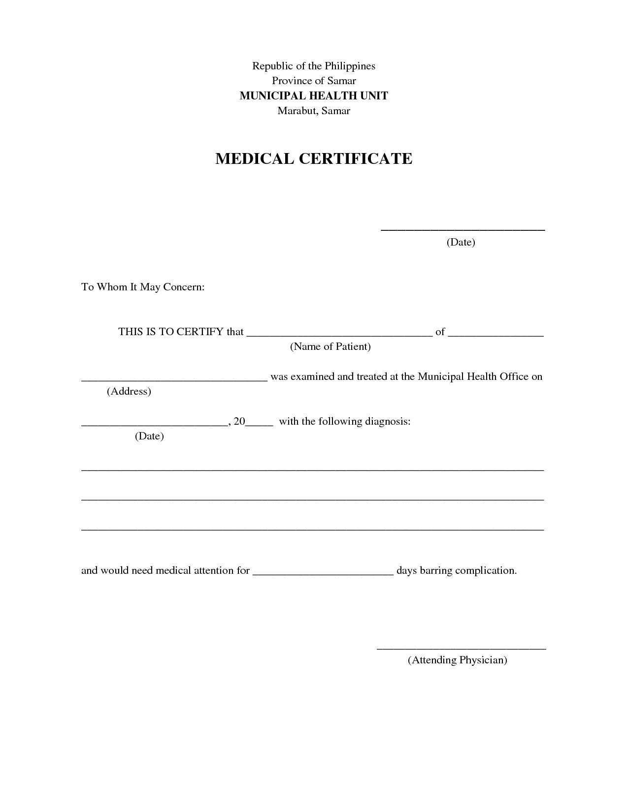 Certificate Clipart Medical Certificate, Certificate Medical Within Free Fake Medical Certificate Template