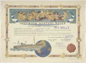 Certificate – Crossing The Equator, Ms Nelly, Wittusen regarding Crossing The Line Certificate Template