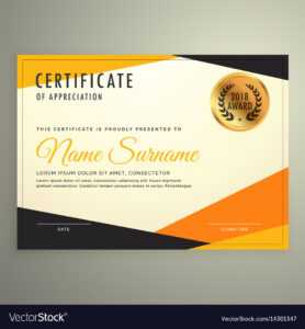 Certificate Design Template With Clean Modern for Design A Certificate Template