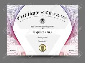 Certificate Diploma Border, Certificate Template. Design On White.. for Certificate Border Design Templates