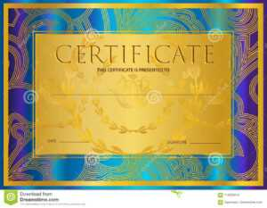 Certificate, Diploma Golden Design Template, Colorful inside Certificate Scroll Template