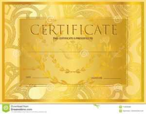 Certificate, Diploma Golden Design Template, Colorful with regard to Certificate Scroll Template