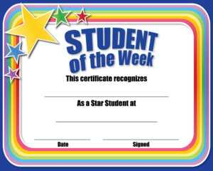 Certificate For Student Of The Month – Ctsm015 – School with Star Of The Week Certificate Template