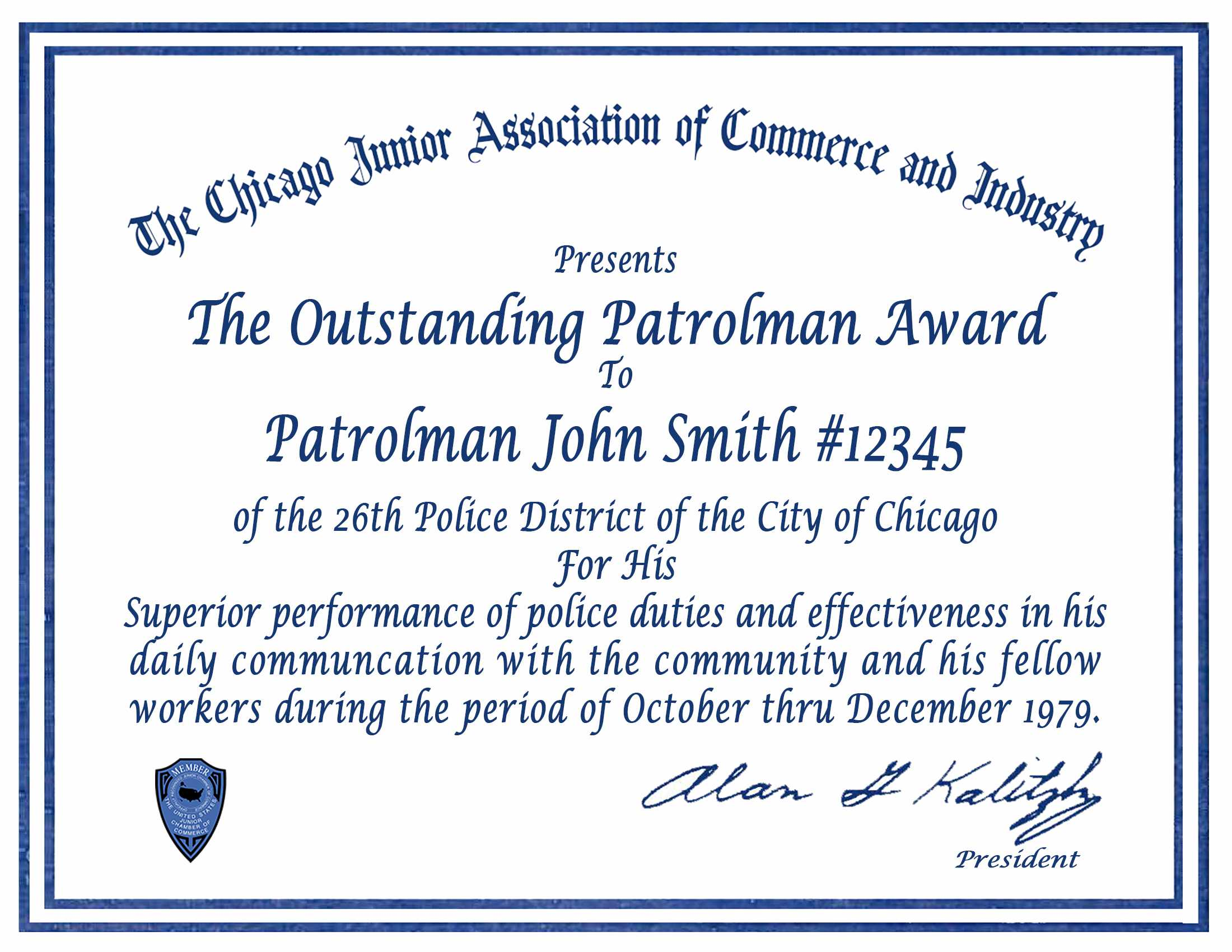 Certificate & Letter Awards | Chicagocop Intended For Life Saving Award Certificate Template