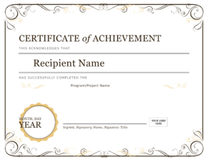 Certificate Of Achievement – Download A Free Template with Farewell Certificate Template