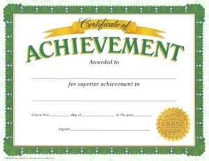 Certificate Of Achievement Template – Certificate Templates within Certificate Of Achievement Army Template