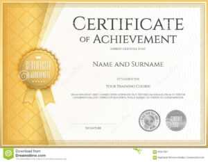 Certificate Of Achievement Template In Vector Stock Vector with Free Certificate Of Excellence Template