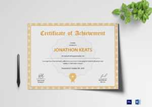 Certificate Of Achievement Template inside Certificate Of Achievement Template Word