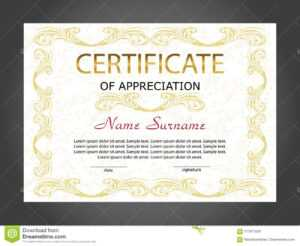 Certificate Of Appreciation, Diploma Template. Reward. Award within Winner Certificate Template