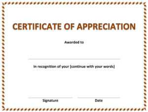 Certificate Of Appreciation » Officetemplates for Certificates Of Appreciation Template
