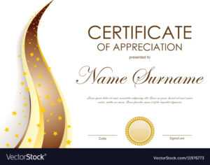 Certificate Of Appreciation Template intended for Certificates Of Appreciation Template