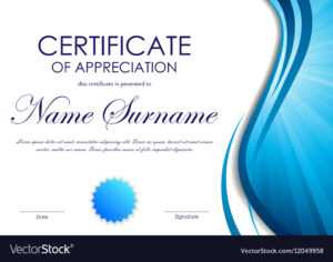 Certificate Of Appreciation Template regarding Free Certificate Of Appreciation Template Downloads