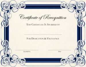 Certificate Of Appreciation Template Word Doc – Ceyran inside Certificate Of Excellence Template Word