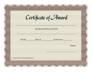 Certificate Of Appreciation Templates : Free Printable Award inside Certificate Of Appreciation Template Free Printable