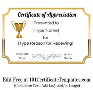 Certificate Of Appreciation throughout Employee Recognition Certificates Templates Free