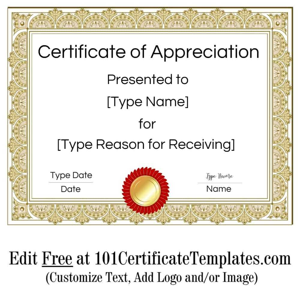 Certificate Of Appreciation Within Certificate Of Attainment Template