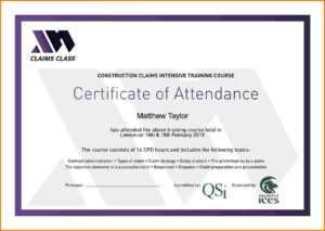 Certificate Of Attendance Template Word Ukran Agdiffusion regarding Certificate Of Attendance Conference Template