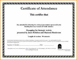 Certificate Of Attendance Template Word Ukran Agdiffusion within Conference Certificate Of Attendance Template