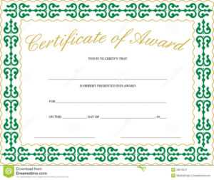 Certificate Of Award Stock Vector. Illustration Of Paper with Referral Certificate Template