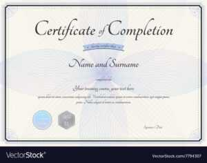 Certificate Of Completion Template Botany Theme throughout Certification Of Completion Template