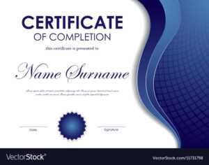 Certificate Of Completion Template for Certification Of Completion Template