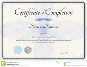 Certificate Of Completion Template In Vector With Florist for Choir Certificate Template