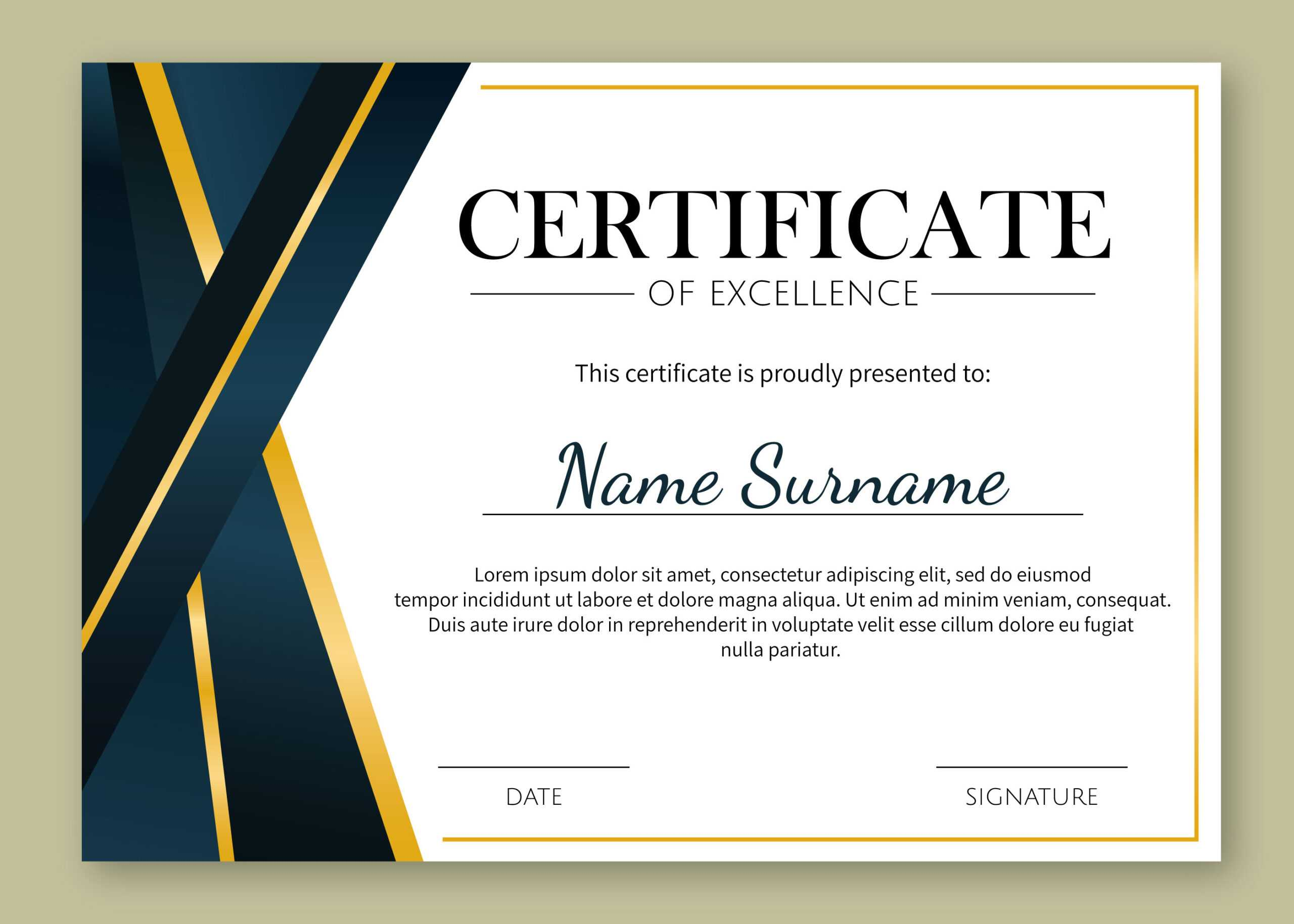Certificate Of Excellence Template Free Download Pertaining To Certificate Of Excellence Template Free Download
