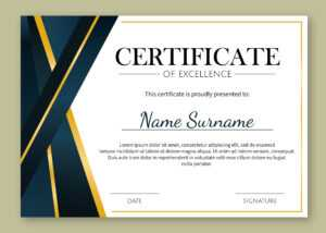 Certificate Of Excellence Template Free Download pertaining to Certificate Template For Pages