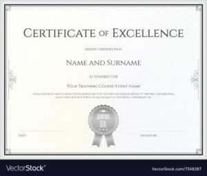 Certificate Of Excellence Template in Certificate Of Excellence Template Free Download