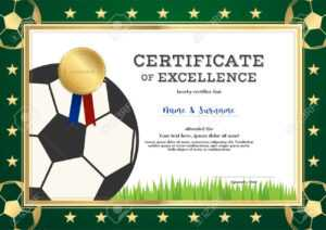 Certificate Of Excellence Template In Sport Theme For Football.. with regard to Football Certificate Template