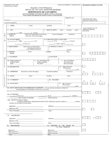 Certificate Of Live Birth Form Editable – Fill Online regarding Editable Birth Certificate Template