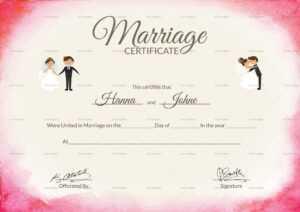 Certificate Of Marriage Template – Oflu.bntl regarding Mexican Marriage Certificate Translation Template