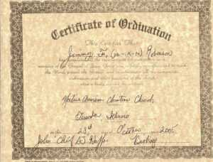 Certificate Of Ordination For Deaconess Example in Ordination Certificate Template