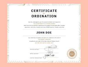 Certificate Of Ordinationeric Boggs On Dribbble for Ordination Certificate Template