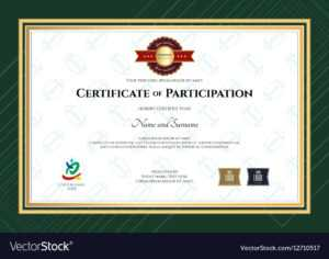 Certificate Of Participation Template In Sport The for Certification Of Participation Free Template