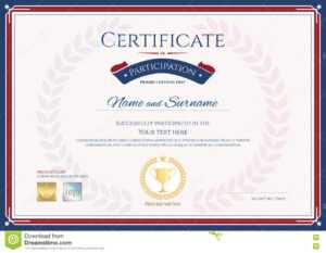 Certificate Of Participation Template In Sport Theme With pertaining to Certification Of Participation Free Template