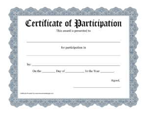 Certificate-Of-Participation-Template-Pdf pertaining to Certificate Of Participation Template Pdf