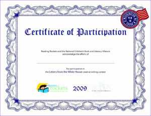 Certificate Of Participation Template Ppt – Tomope.zaribanks.co regarding Free Templates For Certificates Of Participation