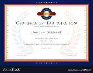Certificate Of Participation Template With Laurel regarding Certificate Of Participation Template Pdf