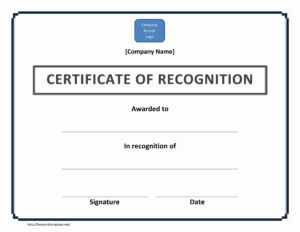 Certificate-Of-Recognition-Doc-File inside Certificate Of Participation Template Doc