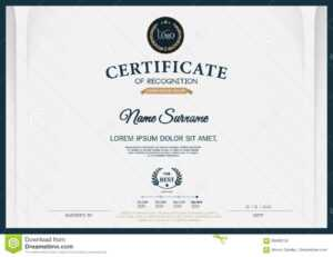 Certificate Of Recognition Frame Design Template Layout with regard to Certificate Template Size
