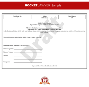 Certificate Of Shares Template ] – Uk Share Certificate in Template For Share Certificate